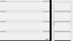 T rievojums (LPU 42) motīvs 500 ar dalītām inkrustācijām nerūsējošā tērauda vai koka izskatā (attēlā), klasiski balts RAL 9016