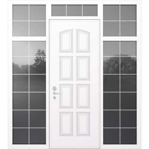 Aluminija durvis Domani 100 balts ar stiklu