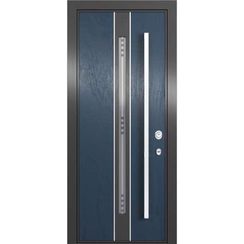 Aluminija durvis Domani 100 zilas